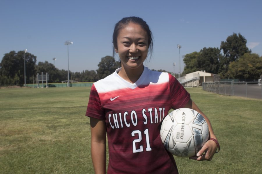 Jamie+Ikeda+is+a+senior+and+team+captain+for+the+Chico+State+women%27s+soccer+team.