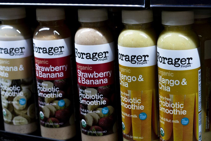 Forager is a healthy drink alternative that is dairy-free and probiotic. Sold at Urban Roots in the Bell Memorial Union. Photo credit: Dominique Wood