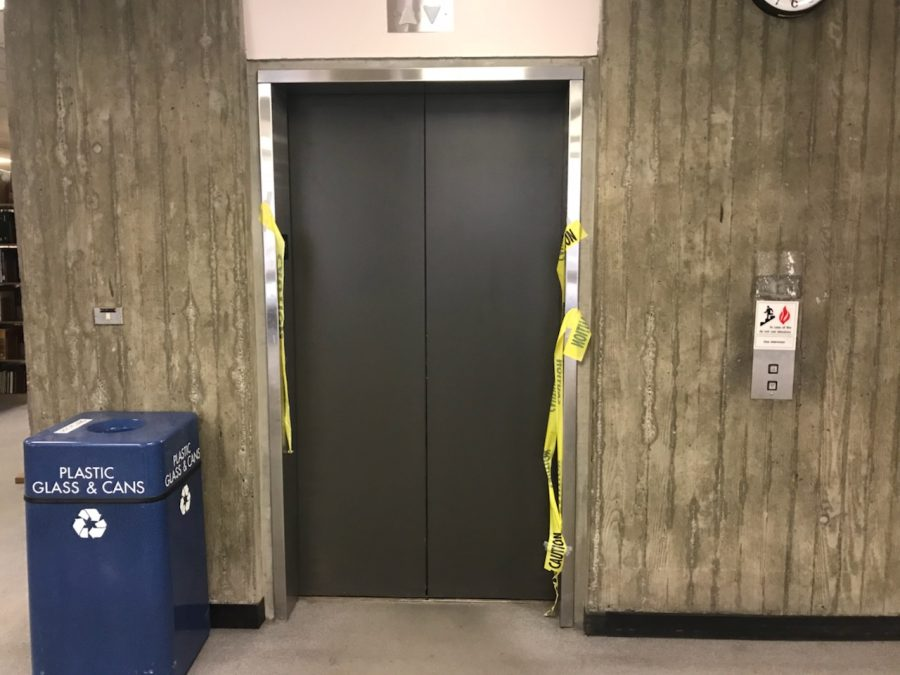 One of the elevator malfunctions occurred on Oct. 1 on the third floor of the Meriam Library. Photo credit: Dan Christian