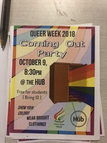 A Coming Out party was held in the Hub. Photo credit: Alex Coba