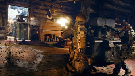 A firefight in a cabin, why not? Image courtesy of Activision