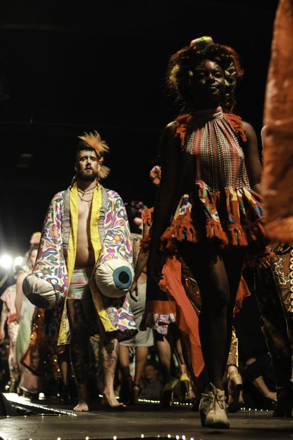 Models walking down the runway during Chikoko's Evoke-an Experimental fashion show Photo credit: Tara Killoran