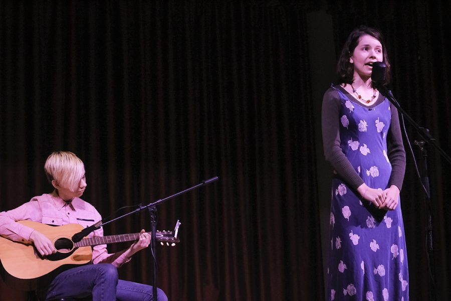 Chico local youth duo Snowing in May preforms an acoustic cover of the popular song