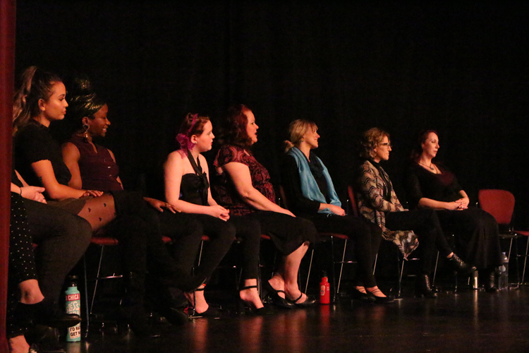 Cast+Members+of+the+Vigina+Monologues+sitting+down+while+on+stage.+Photo+credit%3A+Rayanne+Painter