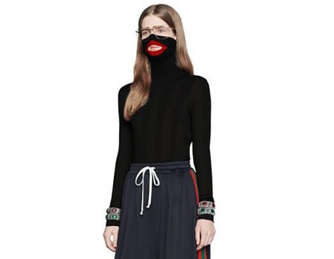 The $890 black balaclava sweater has been taken off the market by Gucci. Image courtesy of NBC News.