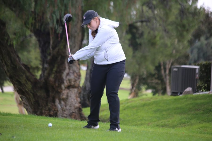 Brittany O'Bryant dropped a pair of birdies and shot a 3-over par 75 and that was good enough for sixth place on the individual leaderboard for day one of the Mikuni Sushi Shootout.  Image credit: Chico State Sports Information