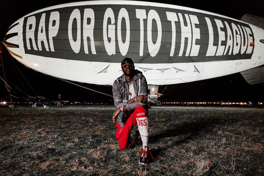 2 Chainz publicizes his album by displying it on a blimp Photo credit: Joe Moore Productions