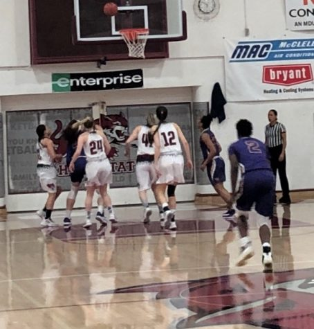 Wildcats trying to rebound against San Francisco. State. They got outrebounded 42-40. Photo credit: Matthew Ferreira