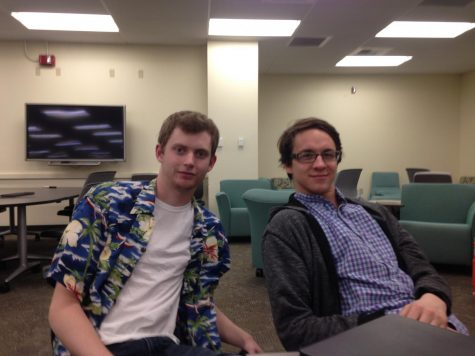 (Left to right) Alexander Stolp and Cody Peterson. Both participated in the final debate. Photo credit: Julian Mendoza