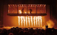 KIDS SEE GHOSTS (Kid Cudi and Kanye West) performing at Camp Flog Gnaw Carnival in November 2018. Camp Flog Gnaw Instagram Photo