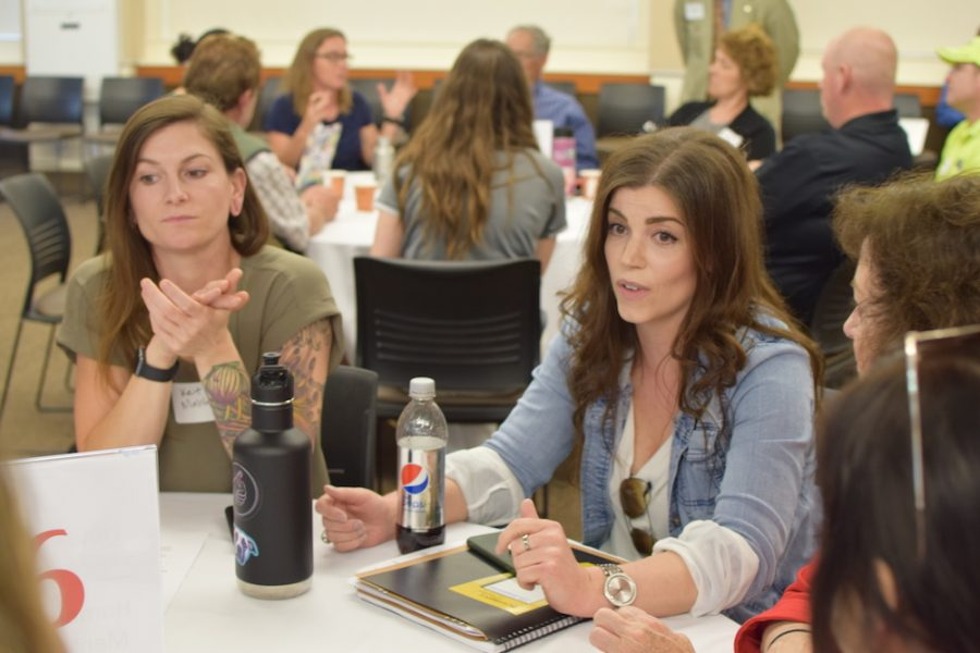 Students, faculty and staff all gathered together on Friday to come up with solutions to the increasing crime activity in the Chico community. Photo credit: Kendall George