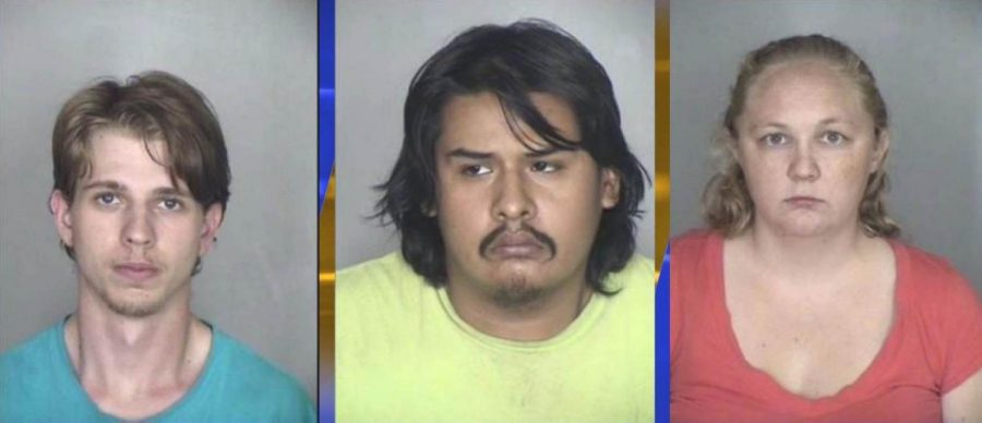 (From left to right) David Hamilton, 22, Vincent Balderas, 23, and Chesley Klein, 27. Images from Chico Police.