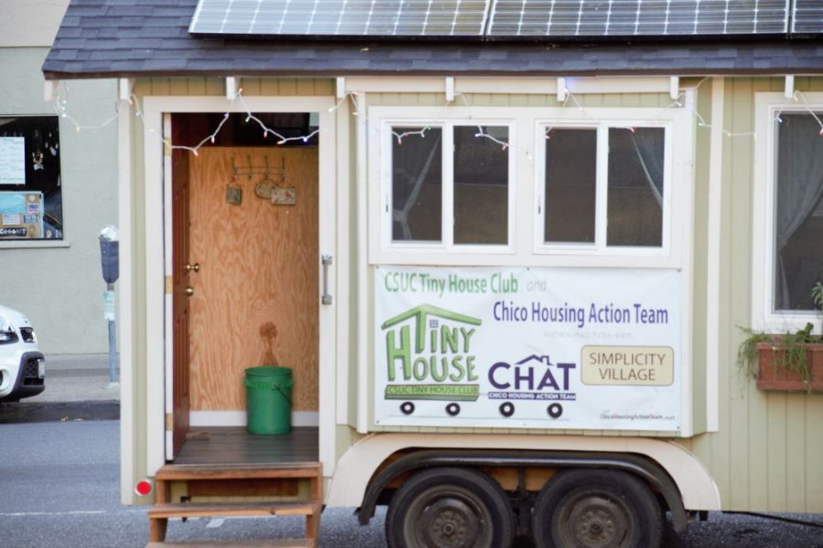 A closer look at the tiny house. Photo credit: Mary Vogel