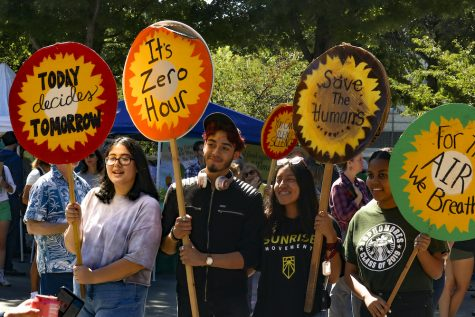 Many students, from various grades, came to the event to participate in the strike. Photo credit: Melissa Herrera