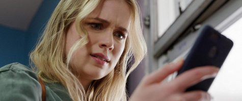 Quinn Harris (Elizabeth Lail) downloads an app that tells her she has only three days to live. (STX Films)