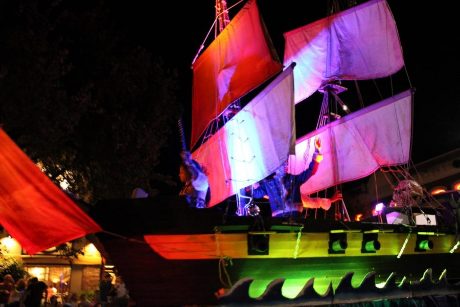 The Pirate ship was one of the tallest floats in the parade Photo credit: Julian Mendoza