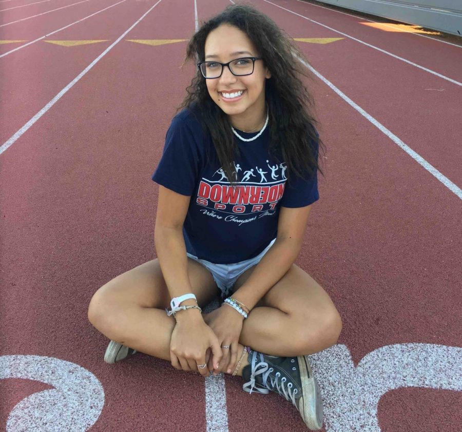 Hailey Fune is currently a senior at Chico High School and has participated in the track and field team all four years. Photo credit: Karina Cope