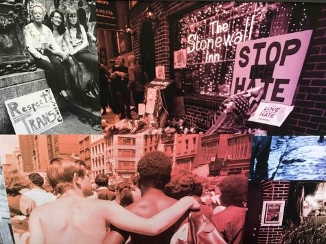 The Stonewall timeline and exhibit included some photos from the Stonewall riots in 1969 Photo credit: Danielle Kessler