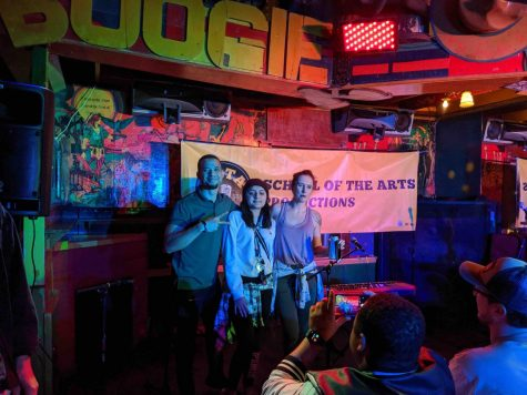 Winners of 'Chico Unplugged' pose together. Photo credit: Abram Melendez
