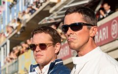 Matt Damon and Christian Bale star as Carroll Shelby and Ken Miles, respectively in