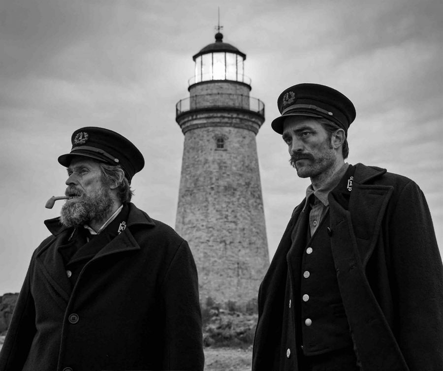 Willem Dafoe (left) and Robert Pattinson (right) star as Thomas Wake and Ephrain Winslow, two lighthouse keepers stuck on an island for four weeks off the coast of New England, in
