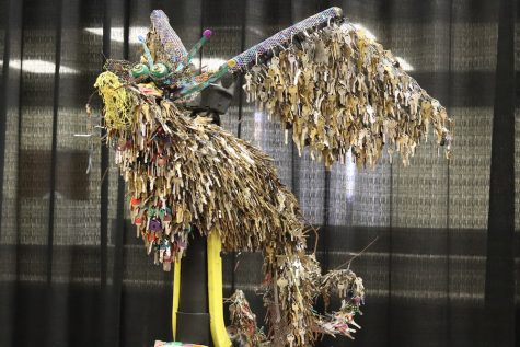 The Phoenix contained over 18,000 keys and stood tall in the center of the building. Photo credit: Melissa Herrera