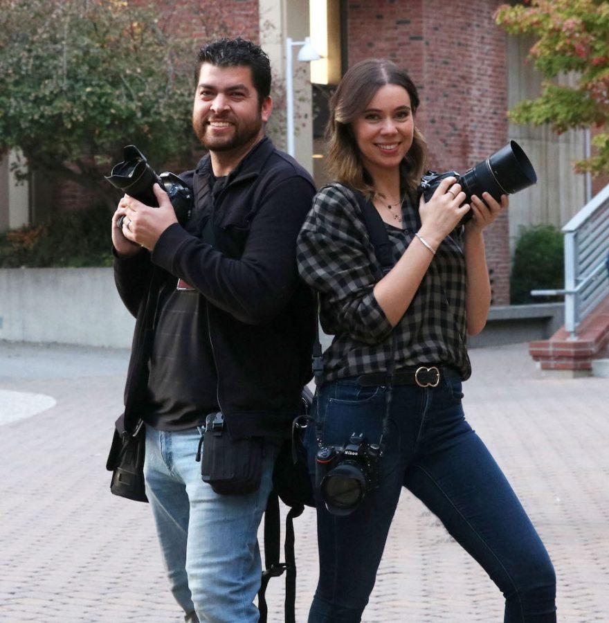 Jessica Barlett and Jason Halley  are very fun awesome Chico State Photographers. Photo credit: Hana Beaty