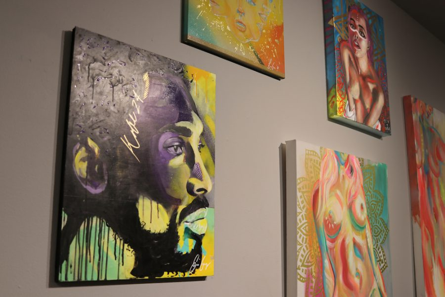 Kobe Bryant painting by Ernie Gomez