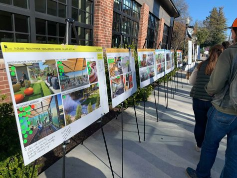 Students had the chance to vote for their favorite architectural designs during  Butte Hall's Renovation Forum