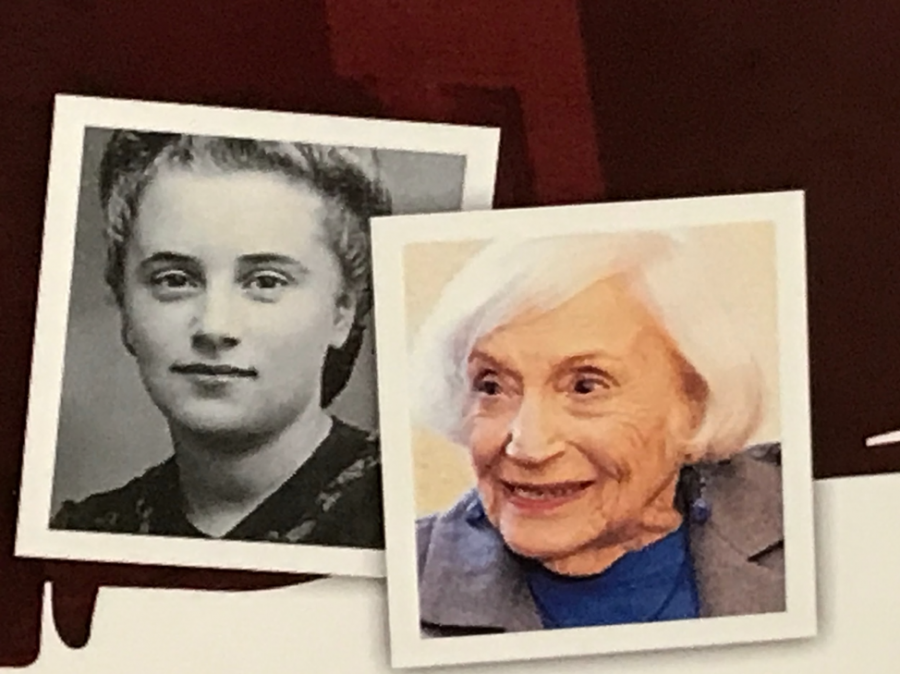 A then and now picture comparison of Marthe Cohn.