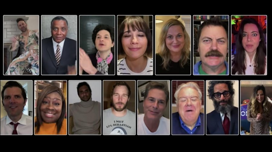A+still+from+the+Parks+and+Recreation+reunion+special