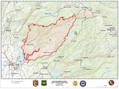 CalFire map of the North Complex Fire, Sept. 11, 2020