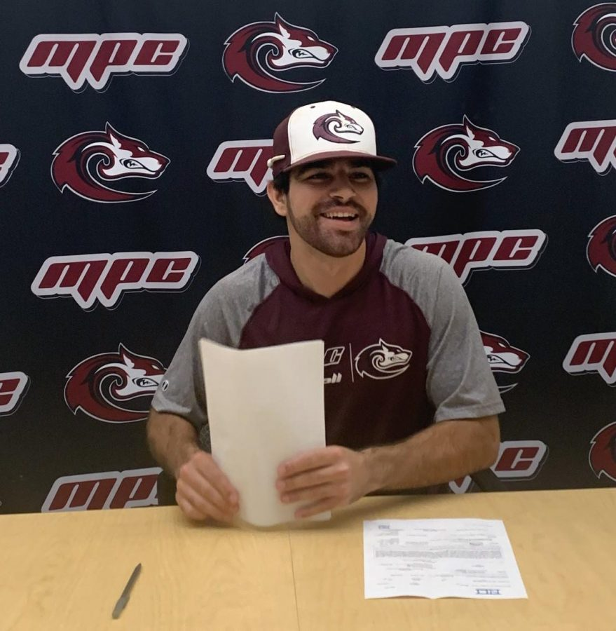 Jordan Mello, third-year transfer student from Monterey Peninsula College, signed his National Letter of Intent in April, 2020 to play baseball at Chico State