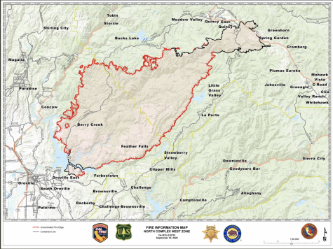 Cal Fire map of North Complex Fire, Sept. 15, 2020