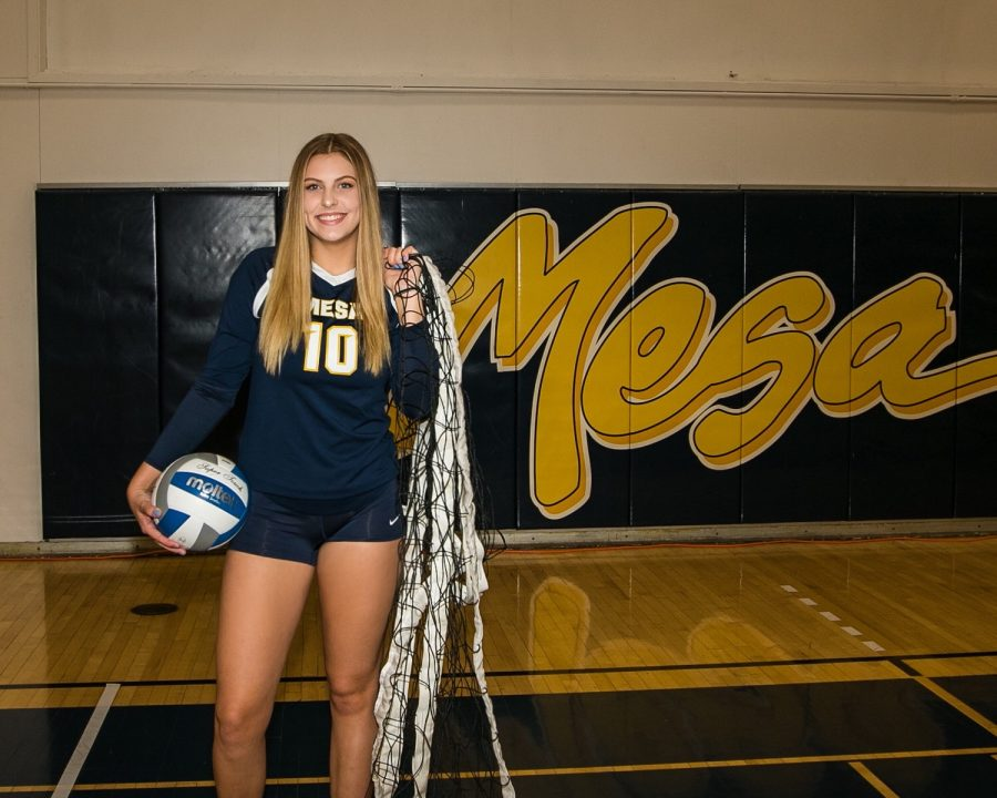 Lizzie+Wilson%2C+a+new+recruit+to+the+Chico+State+Volleyball+team+who+played+at+San+Diego+Mesa+College.