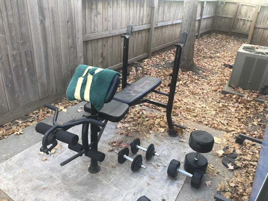 The home gym my roomates and I were able to create.