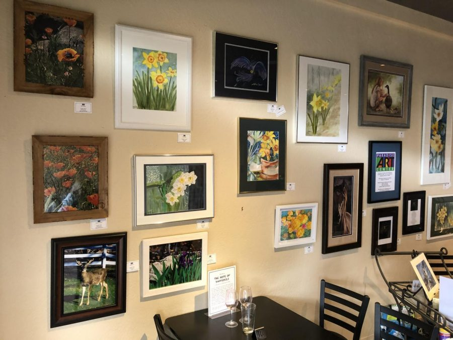 On Nov. 8, a wall of art in Nic's depicts local artists expressions of hope for the future of Paradise and it's residents.