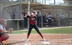 #20 Kristin Worley takes an at bat in a softball game at Chico State (Ryan McCasland/Chico State Sports Information)