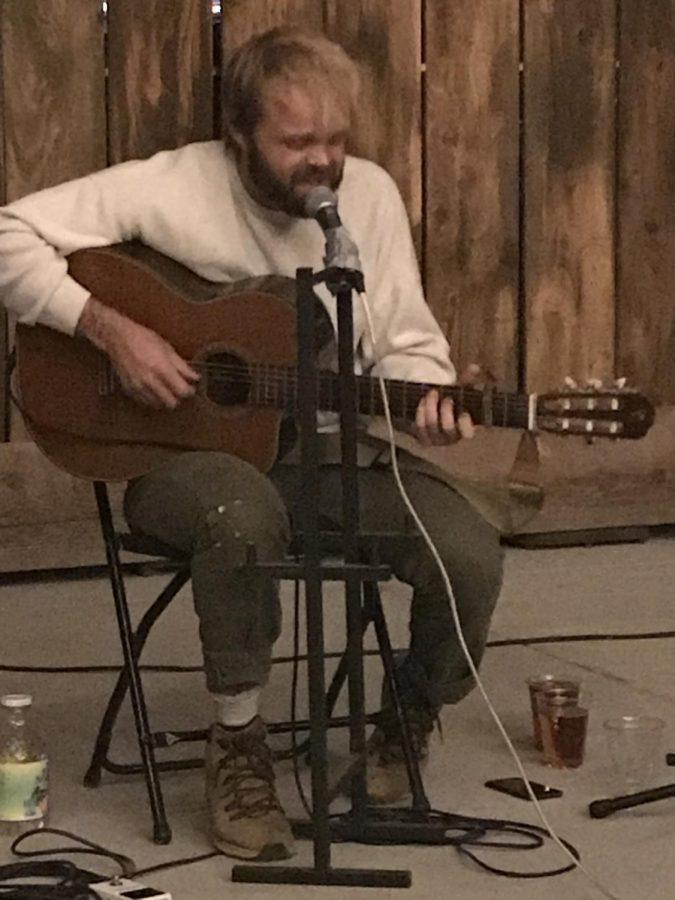 Pat Hull performing at The Barn at Meriam Park on Friday, Nov. 6. Photo credit: Kelsey Ogle