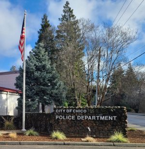 Photograph taken by Shae Pastrana. Depicts the exterior of the City of Chico Police Department on Friday 12th, 2021.