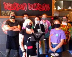 The Drunken Dumpling gang, ready to please your palate.