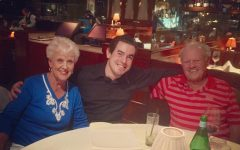 Alex Martin and his grandparents having dinner at Scott's Restaurant in Walnut Creek, Calif. Photo by Jeff Martin