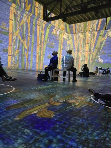 Photo by Shae Pastrana. The Immersive Van Gogh Exhibit experience.