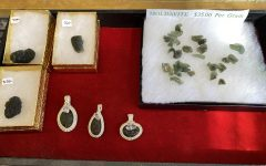 Moldavite being sold at Lotus Flower Imports on May 18, 2021