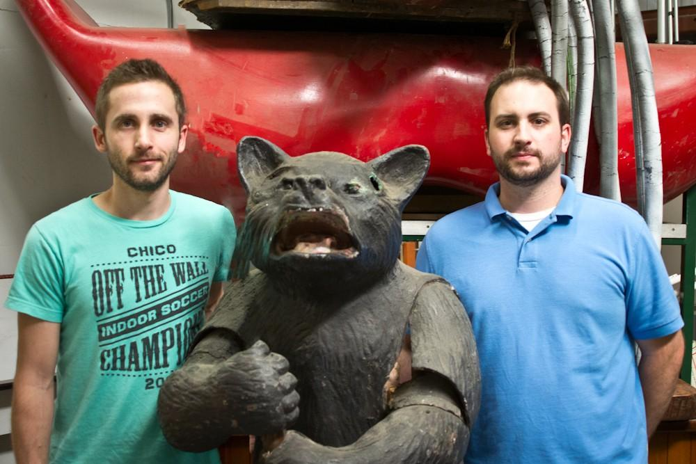 Sam Rivera The Madison Bear Garden graphic designers, Mike Schulz (left) and Dan Massari (right).