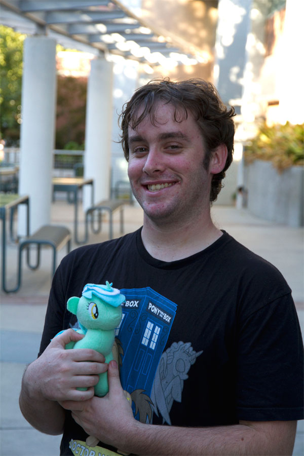 """Carter Caldwell """"Brony"""" Aiden O'Connor holds his favorite My LIttle Pony plushie, Lyra."""