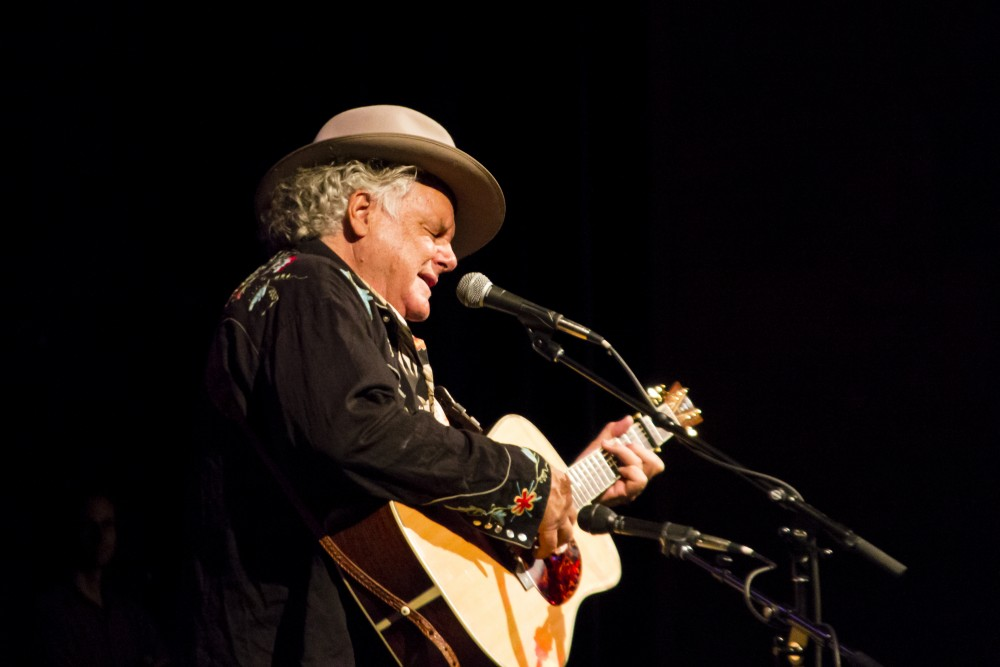 Ernesto Rivera Grammy-award winner Peter Rowan impressed the audience in Laxson Auditorium, with his classic country hits and bluegrass ballads.