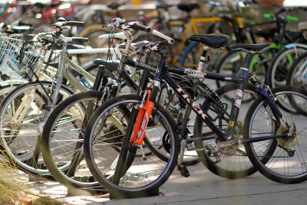 Photo by The Orion There has been a spike in bike thefts so far this year including expensive mountain bikes.