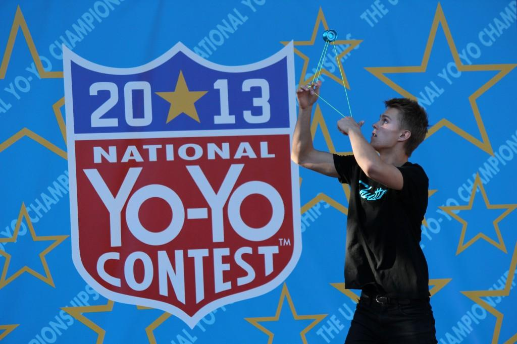 Photograph by Quinn Western Gentry Stein, a senior at Chico High School, winds up his next trick. Stein took first place on Saturday in the 1A division of the 2013 National Yo-Yo Contest.