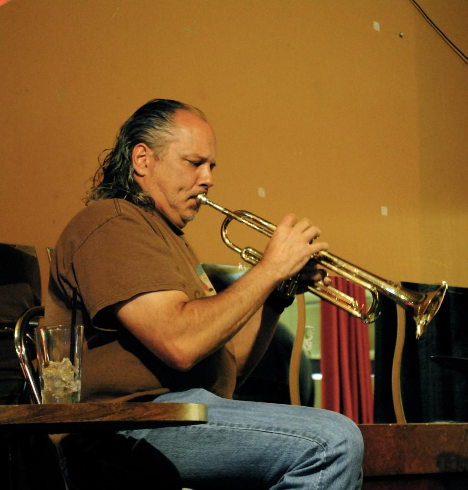Chico State professor Rocky Winslow performs at the DownLo sports bar every week.